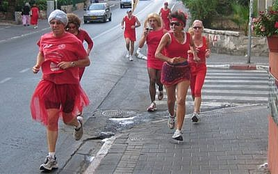 Creative chaos, absurdist anarchy, a purposeful lack of purpose, and the willingness to make a fool of oneself (Holyland Hash House Harriers Red Dress Run)