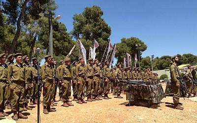 The initiation ceremony of ultra-Orthodox IDF soldiers, Sunday, May 26 (photo credit: Shevy Kass)