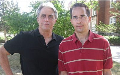 Martin Himel (left) with Alex Linder, webmaster VNN Forum, who advocates exterminating all Jews. (photo credit: courtesy)