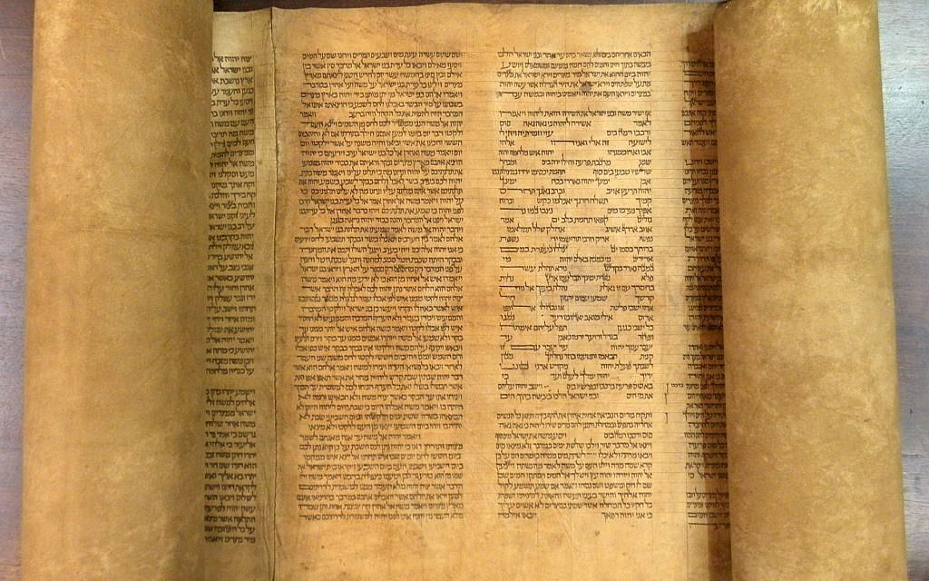 Mauro Perani, a professor of Hebrew in the university's cultural heritage department, was updating the library's Hebrew manuscript catalogue when he stumbled upon the scroll in February. (photo credit: AP Photo/Alma Mater Studiorum Universita' di Bologna)