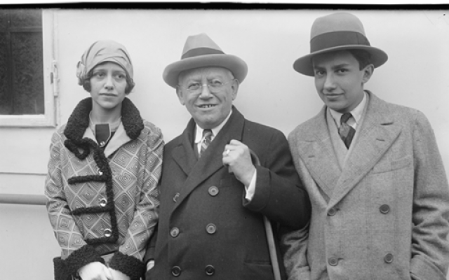 Universal Pictures founder Carl Laemmle with his children, Rosabelle and Carl, Jr. (photo credit: Courtesy of the George Grantham Bain Collection, Library of Congress Prints and Photographs Division, Washington, D.C./via Museum of Jewish Heritage)