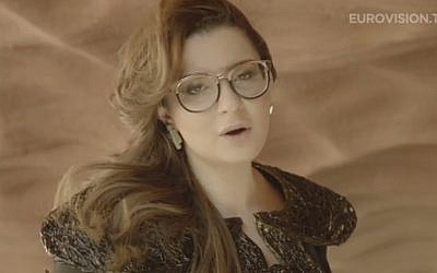 Israel's representative to the Eurovision 2013 song contest, Moran Mazor, performs 'Rak Bishvilo' (image capture: YouTube)