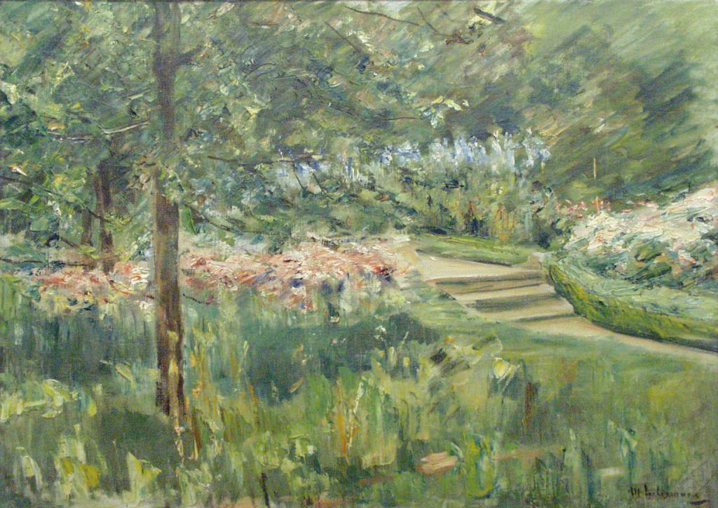 """Max Liebermann's """"Garden in Wannsee,"""" 1923 (photo credit: Courtesy of the Israel Museum, Jerusalem)"""