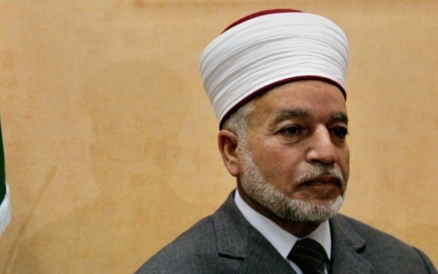 Mufti of Jerusalem, Mohammed Hussein. (photo credit: AP/Muhammed Muheisen)