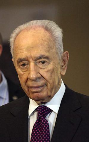 President Shimon Peres. (photo credit: AP/Mohammad Hannon)