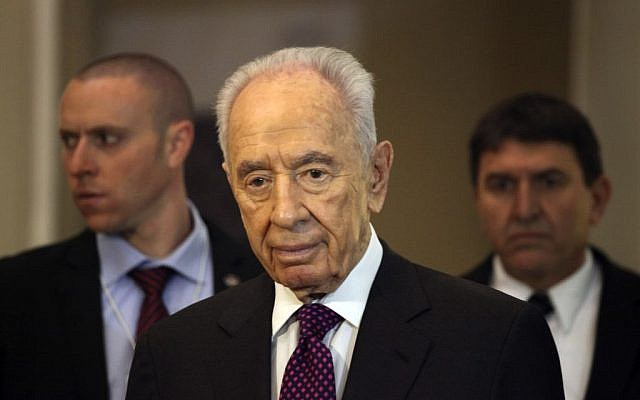 President Shimon Peres. (photo credit: AP/Mohammad Hannon)