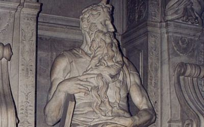Michelangelo's Moses, 1513-15, at San Pietro in Vincoli, Rome (Patricio lorente/ Wikipedia Commons)