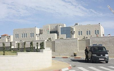 The Muqata'a in Ramallah, the headquarters of the Palestinian Authority (photo credit: Wikimedia Commons/PalestinianLiberator/File)