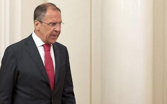 Sergey Lavrov (photo credit: Misha Japaridze/AP)