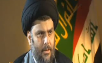 Iraqi Shiite leader Muqtada al-Sadr (photo credit: image capture from YouTube)