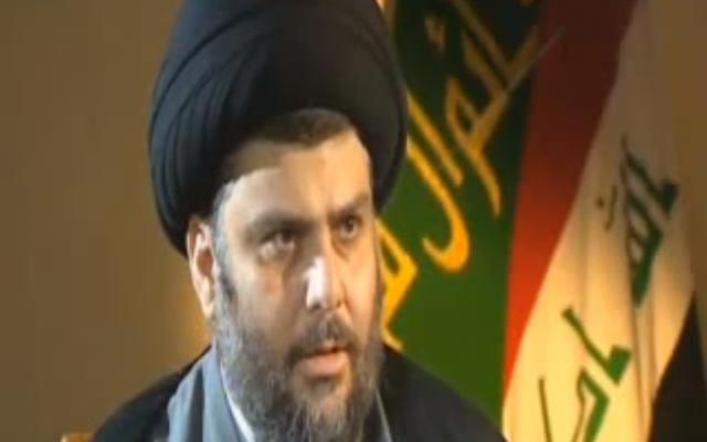 Iraqi Shiite leader Muqtada al-Sadr (photo credit: image capture from YouTube)