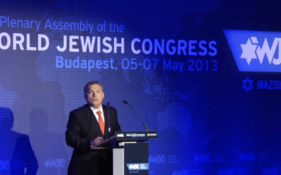 Hungarian Prime Minister Viktor Orban (photo credit: screen capture/WJC)