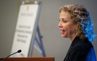 US Rep. Debbie Wasserman Schultz (D-Fla.) addresses a 2013 Survivor Initiative event held in celebration of Jewish American Heritage Month. (courtesy of MAK Photography)