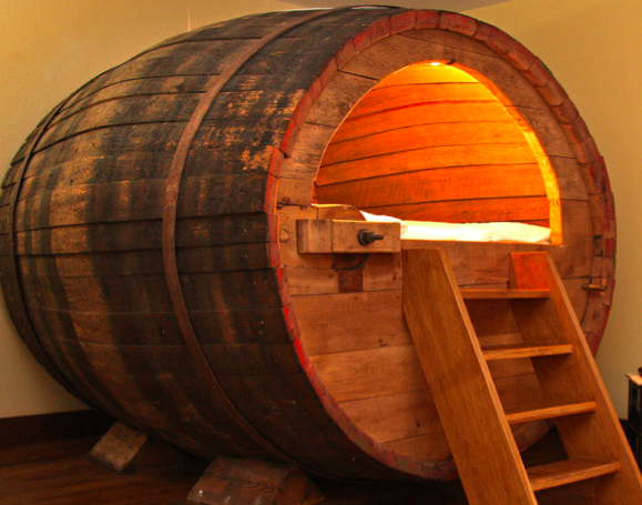 Stay overnight in a beer barrel? An Airbnb option (Courtesy Airbnb)