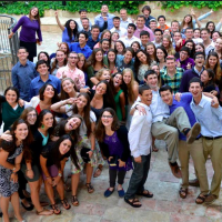 The entire group of USY's Nativ participants, Alexander Gould is off to the right (Courtesy Nativ)