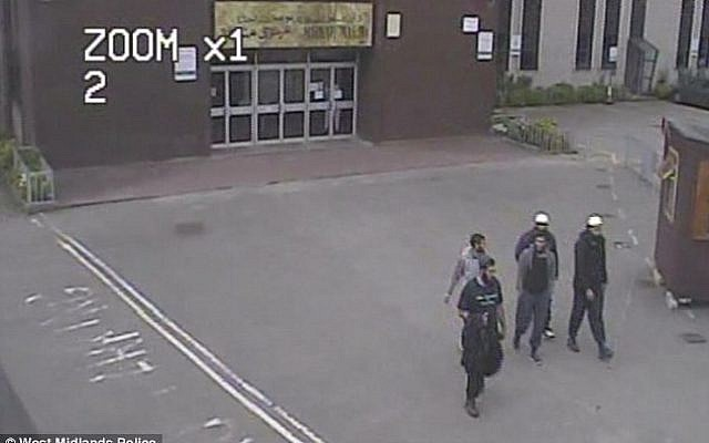 Five of the suspects of a UK terror plot  were caught on  CCTV in Dewsbury two hours after the EDL rally they planned to attack had finished, June 30,2012 (photo credit: Courtesy West Midlands Police)
