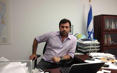 Uri Zaki, former B'Tselem USA head. (photo credit: Ben Zehavi/Times of Israel)
