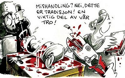 Part of an anti-Semitic cartoon published in Norway's Dagbladet in May (photo credit: screen capture/Dagbladet.no)