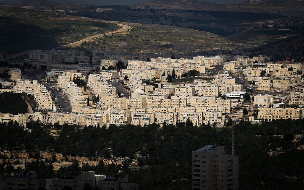 Bird's-eye view of Ramat Shlomo, March 1, 2013 (Nati Shohat/Flash90)