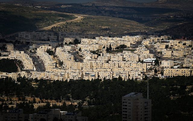 Bird's-eye view of Ramat Shlomo, March 1, 2013 (Nati Shohat/Flash90)