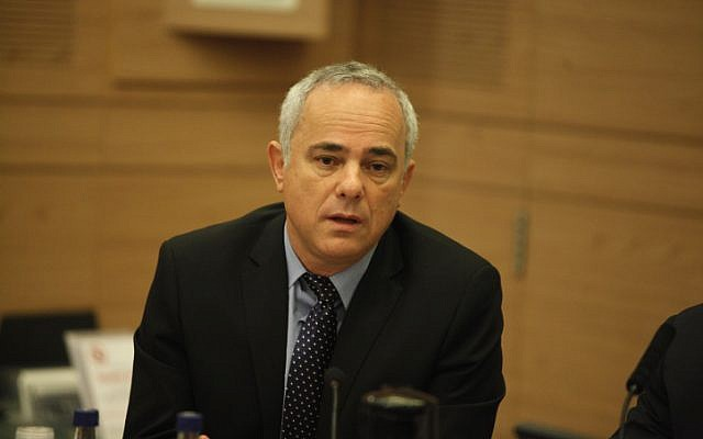 Minister Yuval Steinitz at a Foreign Affairs and Defense committee meeting in Jerusalem on May 20, 2013. (photo credit: Flash90)