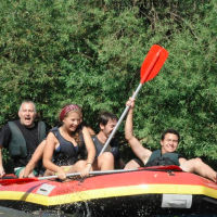 Kayaking down the Jordan with fellow Nativers (Courtesy Yossi Garr)
