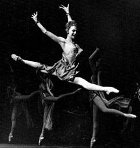 Nina Timofeeva dancing in 'Spartacus' with the Bolshoi Ballet (Courtesy Jerusalem Ballet School)