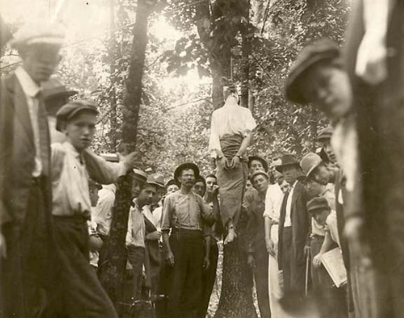 The Leo Frank lynching, August 17, 1915 (photo credit: public domain)