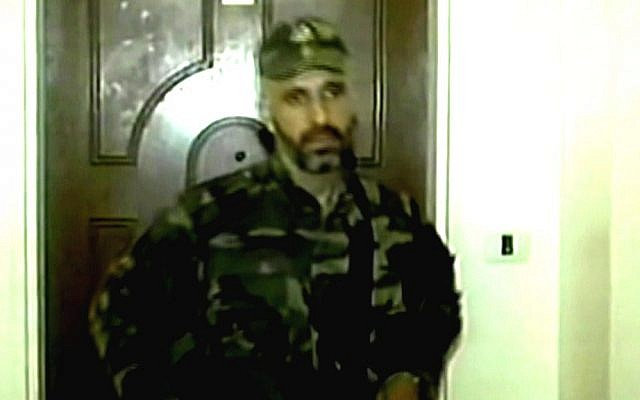 Ayman Sharawneh in Hamas fatigues months after Israel released him to Gaza (photo credit: Channel 2 screen capture)