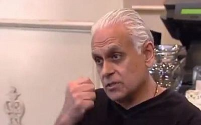 Samy Bouzaglo on 'Kitchen Nightmares.' (photo credit: screen capture YouTube)