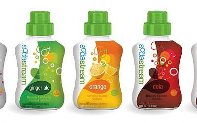 Israeli company Sodastream syrups (photo credit: courtesy)
