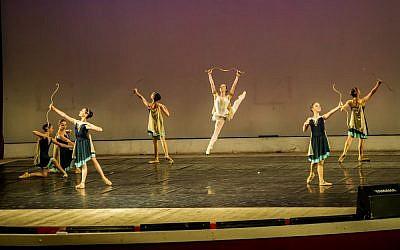 Jerusalem Ballet School dancers performing in St. Petersburg. (photo credit: Rebecca Kovalsky/Courtesy Jerusalem Ballet School)