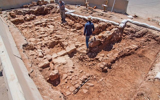 A section of the exposed Roman road found in Beit Hanina, Jerusalem (photo credit: courtesy IAA/Assaf Peretz)