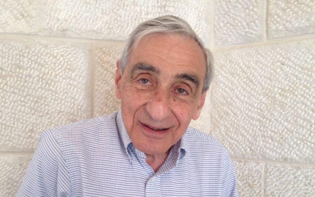 Michael Walzer at Hebrew University, Jerusalem, June 12, 2013 (photo credit: Elhanan Miller/Times of Israel)