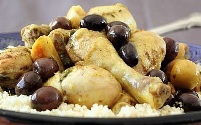 Chicken tagine with kalamata olives and preserved lemons ( photo credit: Andrea Brownstein/Photoli Photography)