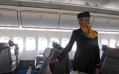A Lufthansa flight attendant. (Photo credit: Courtesy)