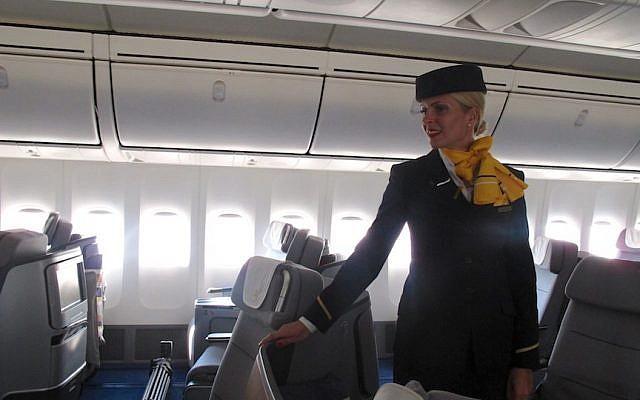 A Lufthansa flight attendant. (Photo credit: Courtesy)