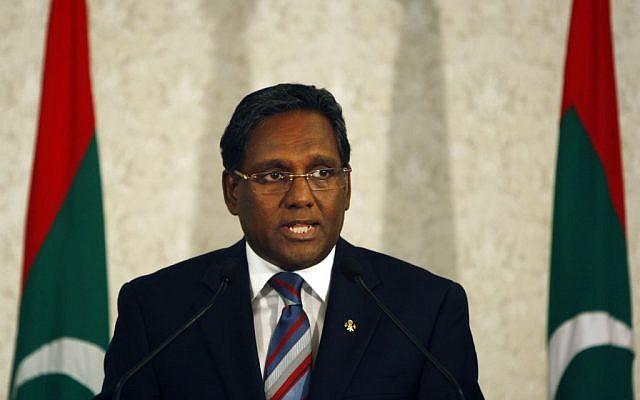 Maldives President Mohammed Waheed Hassan (photo credit: AP/Sinan Hussain)