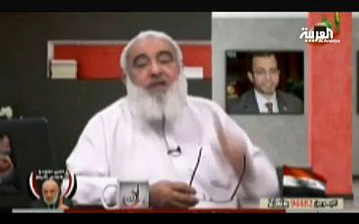 Ahmed Abdullah appears on Al-Arabiya (image capture YouTube)