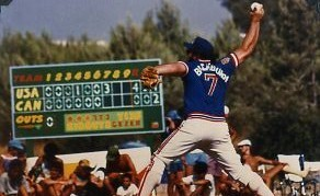 Dave Blackburn pitches a no-hitter against Canada, 1989 (photo credit: Courtesy)