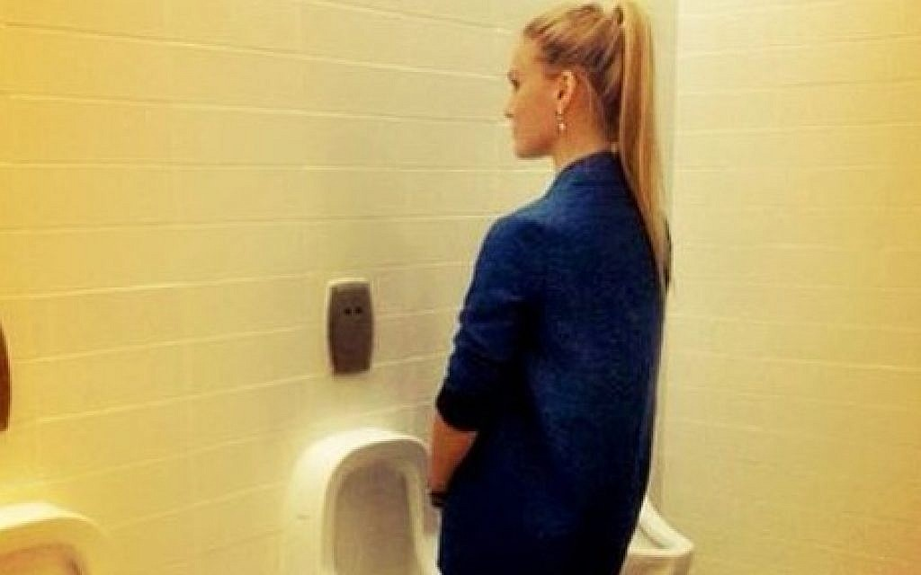 Refaeli Stands Up For Gays At A Urinal The Times Of