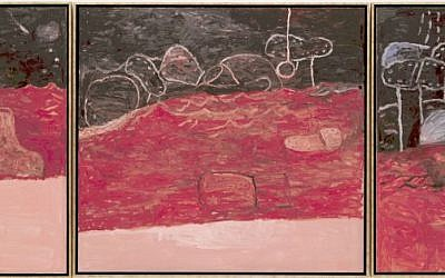 Philip Guston, Red Sea; The Swell; Blue Light, 1975; oil on canvas; (photo credit: Collection SFMOMA)