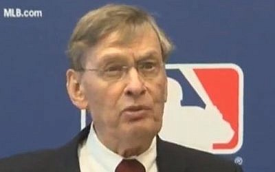 Bud Selig, commissioner of Major League Baseball (photo credit: YouTube)