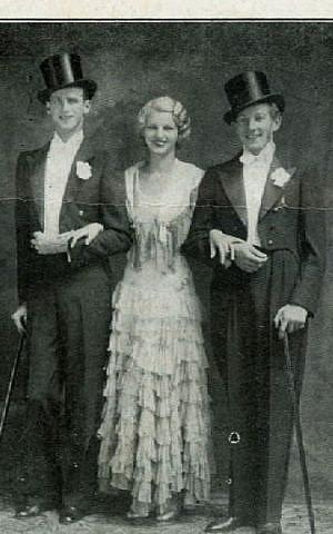 Young Danny Kaye (right) at the White Roe Lake Hotel (photo credit: International Film Circuit, Inc.)