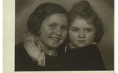 Eva Fleischmann Paddock (right) and her sister Milena in Prague before WWII. (photo credit: Courtesy of Eva Paddock)