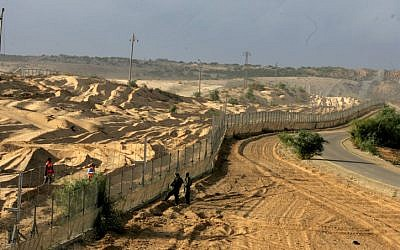 The Israel-Gaza border in 2007 (Photo credit: Edi Israel/ Flash 90)