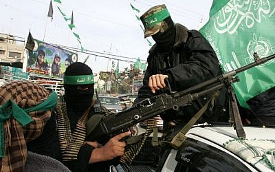Members of Hamas's al-Qassam Brigades in Rafah, December 2011 (photo credit: Abed Rahim Khatib/Flash90)