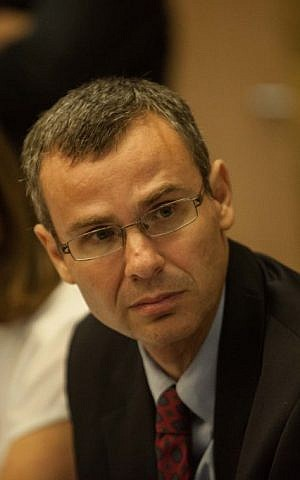 MK Yariv Levin, July 24, 2012. (photo credit: Uri Lenz/Flash90)