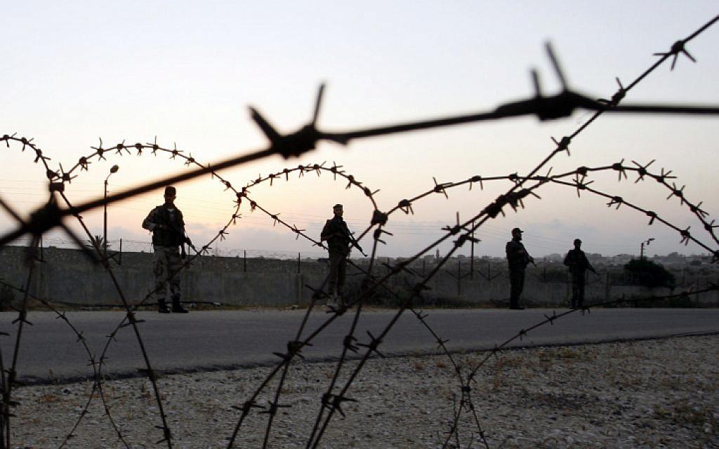 Hamas forces on the Gaza-Egypt border (photo credit: Abed Rahim Khatab/Flash 90)