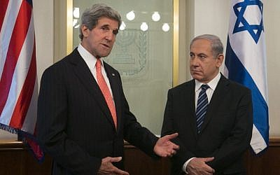 US Secretary of State John Kerry meets with Prime Minister Benjamin Netanyahu in Jerusalem, in May 2013. (photo credit: Marc Israel Sellem/Flash90)